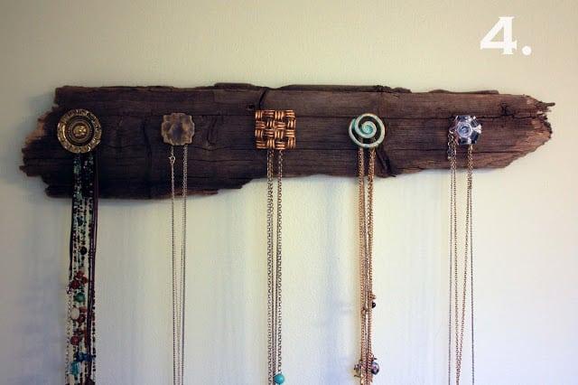 Driftwood Necklace Holder