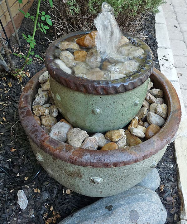 flower pot fountain