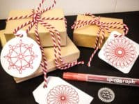 gift tag 200x150 Sensational Patterns: 11 Spirograph Crafts for Grown Ups