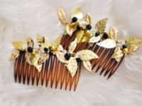 gold leaf 200x150 Spice Up Your Hairstyle With DIY Hair Combs