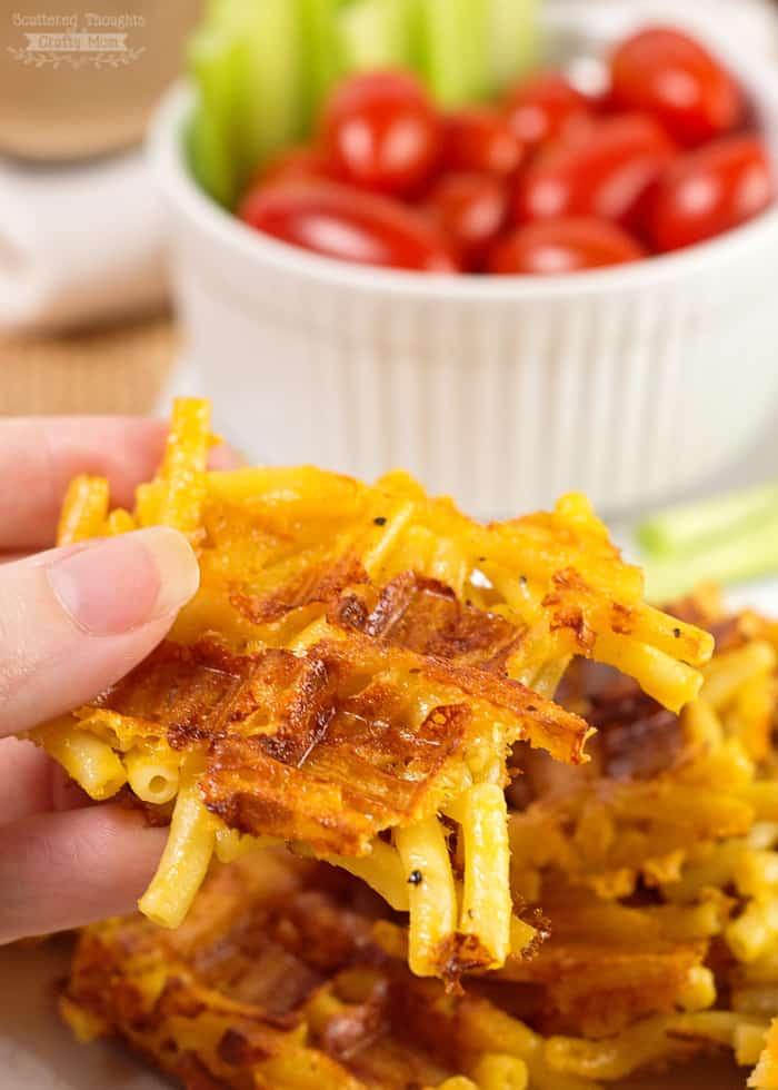 mac and cheese waffle