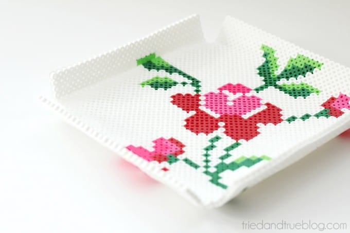 Tray from pearler beads