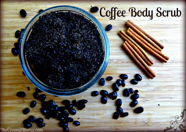 Antioxidant coffee scrub with coconut oil