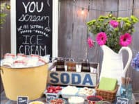 Backyard ice cream station 200x150 DIY Projects to Cool You Down