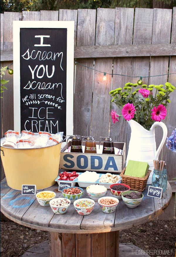 Backyard ice cream station