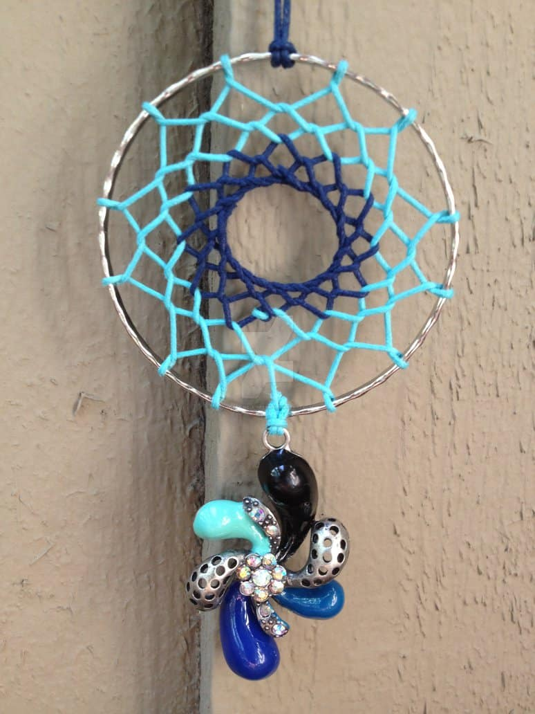 Bangle and necklace charm dream catcher