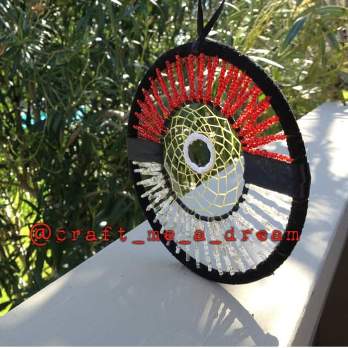Beaded Pokeball dream catcher