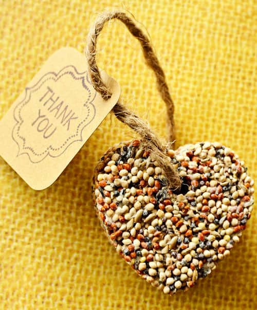 Birdseed hearts