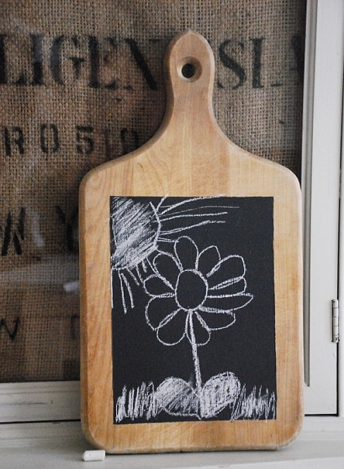 VIEW IN GALLERY Chalk Cutting Board