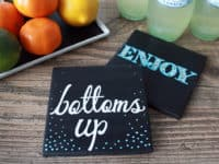 Chalkboard coasters 200x150 Get Creative With Chalkboard Paint: 12 DIY Chalkboard Projects