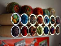 VIEW IN GALLERY Coffee Can Wall Hanging Storage 200x150 Creative Yarn  Storage Solutions For Busy Knitters