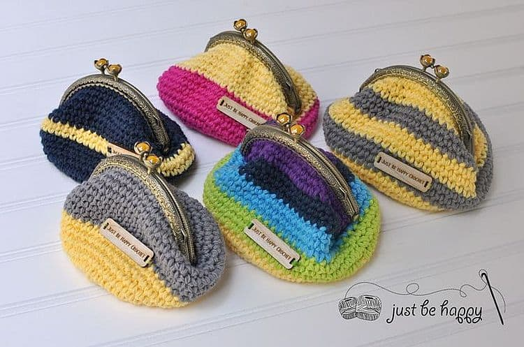 Colorful Striped Coin Purse