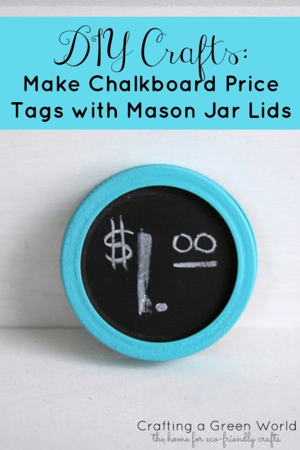 Coloured chalkboard price tag lids