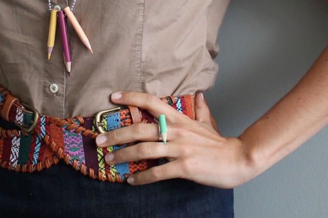 Coloured pencil jewelry