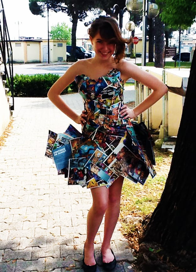 Comic book page dress