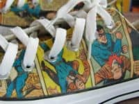 Comic book page sneakers 200x150 15 Awesome DIY Comic Book Themed Projects