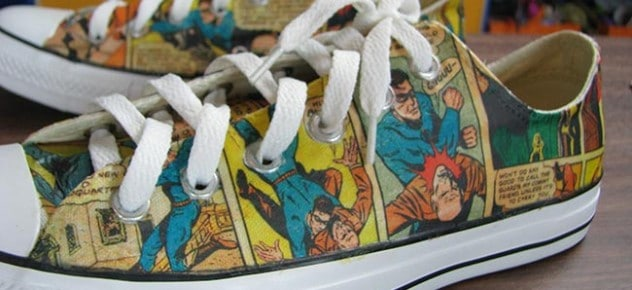 Comic book page sneakers
