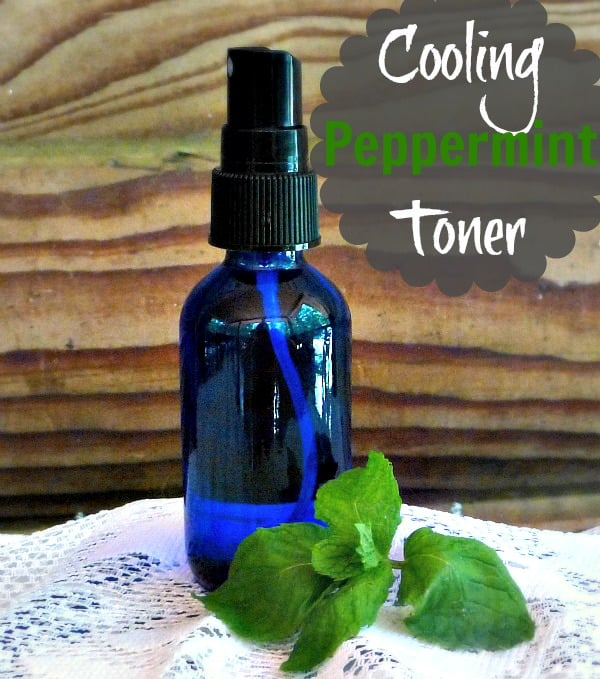 Cooling peppermint face toner