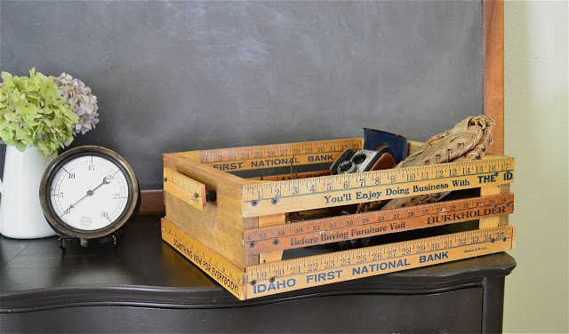 Crate made from rulers