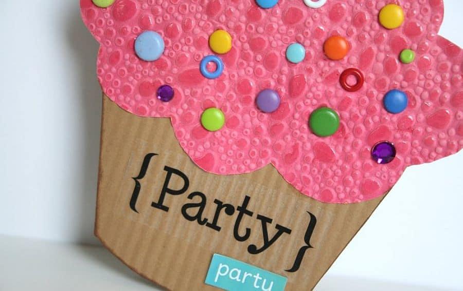 Cupcake birthday card DIY