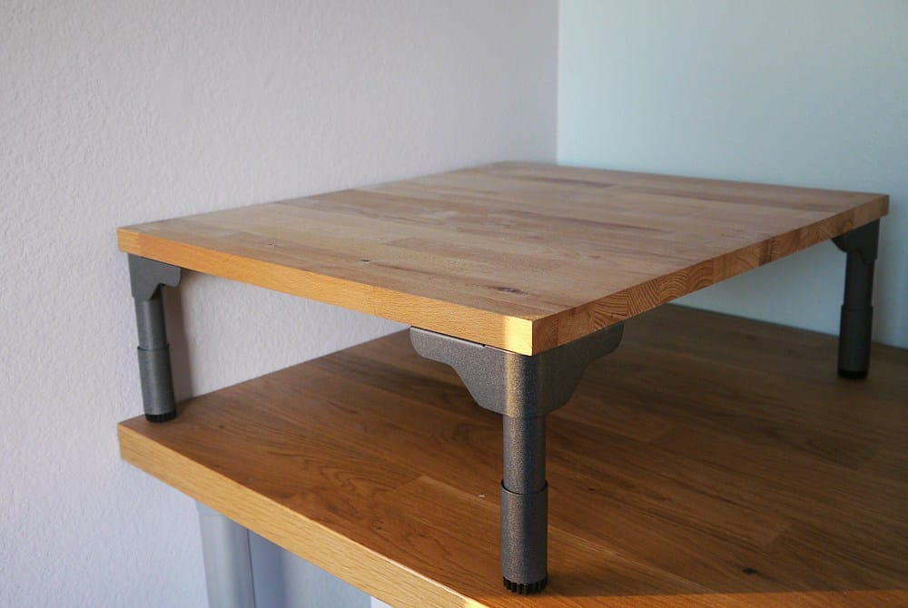 Cutting board TV shelf