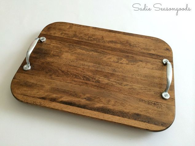 Cutting board serving tray