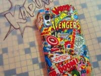 DIY Decoupaged comic book cell phone case 200x150 15 Awesome DIY Comic Book Themed Projects