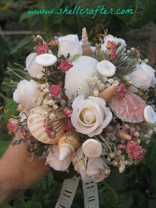 DIY Seashell bouquet
