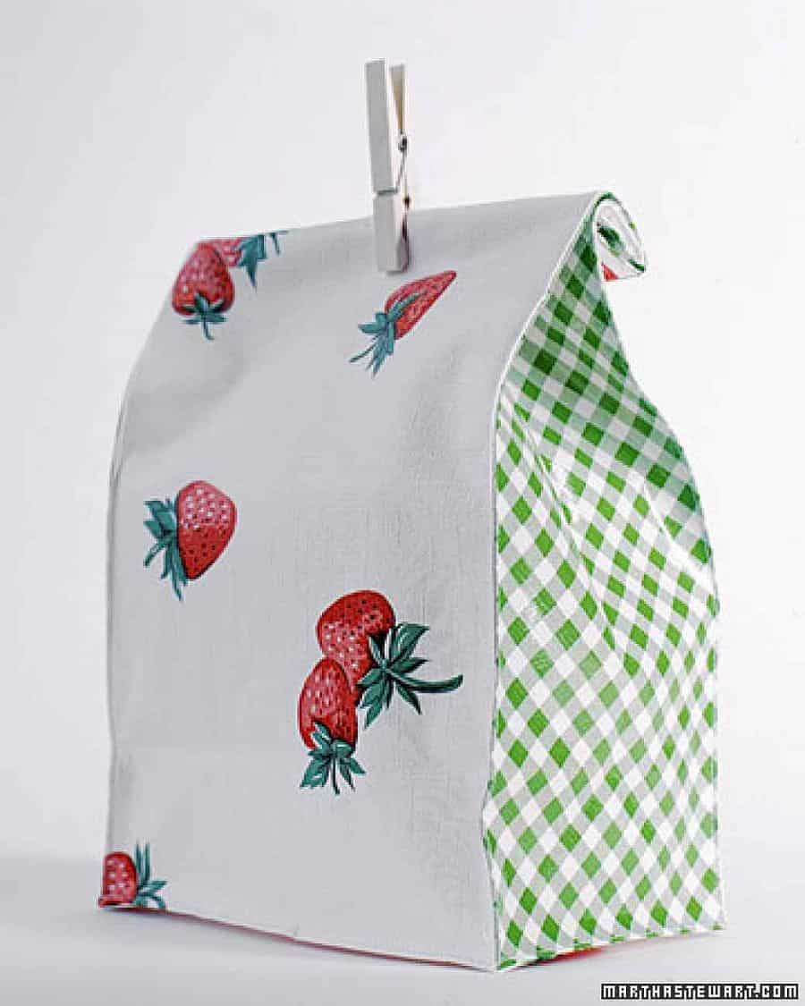 DIY oilcloth lunch bags