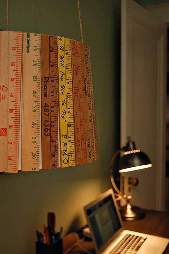 DIY school ruler lampshade