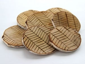 Etched birch coasters