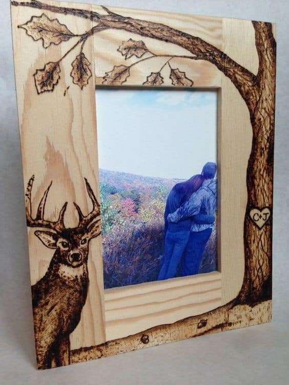 Etched picture frame