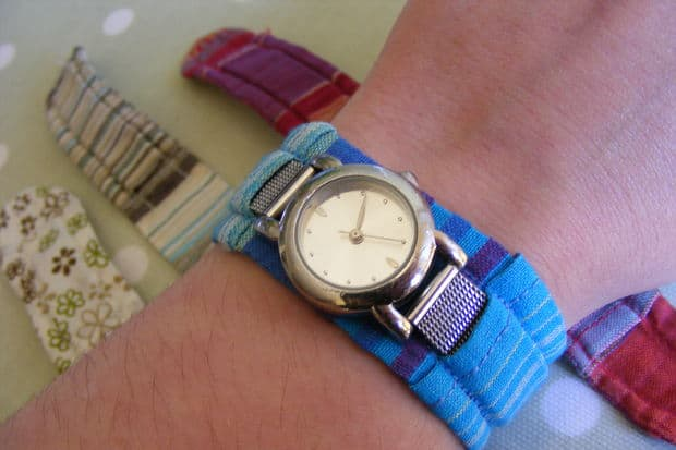 Fabric watch strap cover