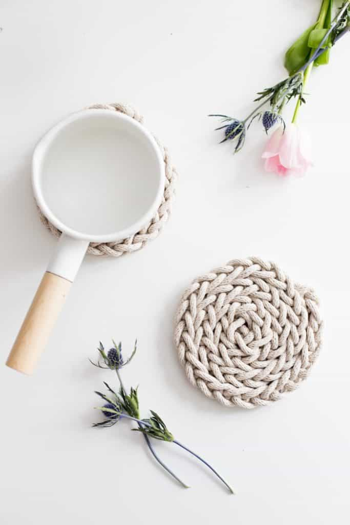 Finger Knit Trivet