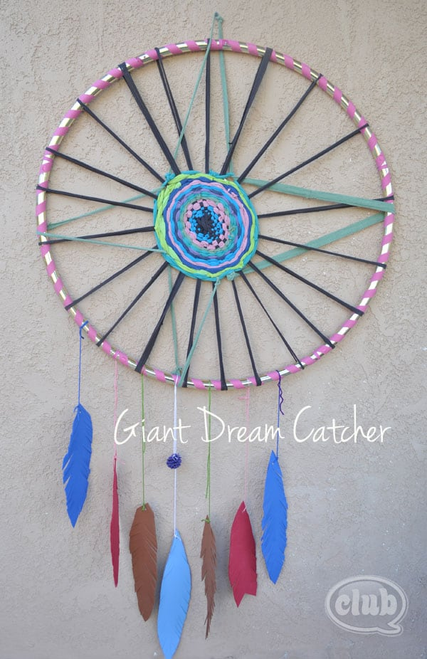Giant hula hoop dream catcher