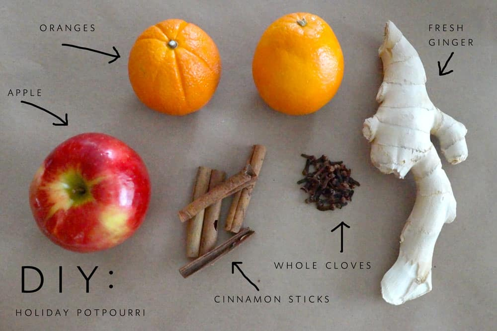 Ginger holiday potpourri