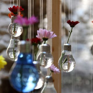 15 Awesome Crafts Involving Old Light Bulbs