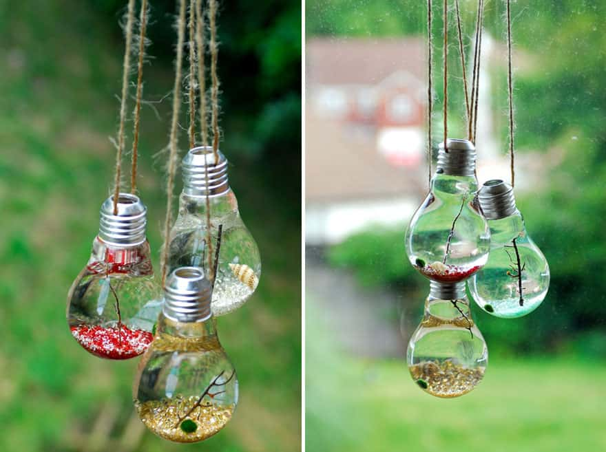 Hanging water terrariums