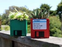 Homemade floppy disc succulent planters 200x150 Creative Ways to Repurpose Office Supplies in Style!