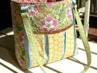 Homemade quilted ambrosia tote 200x150 Affordable Ease: Cute and Useful DIY Diaper Bags