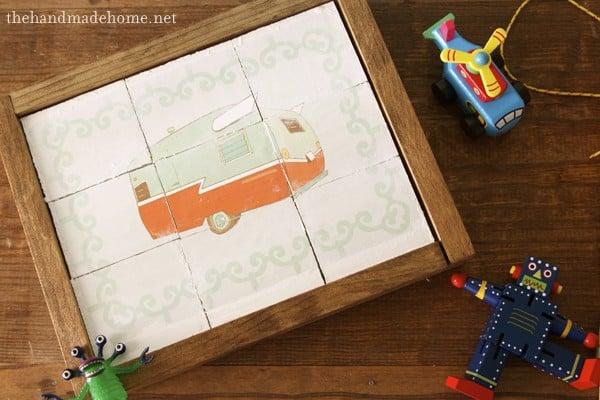 Image transfer children's puzzle