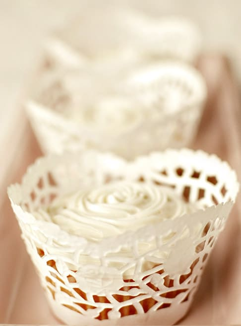 Lace paper cupcake doilies