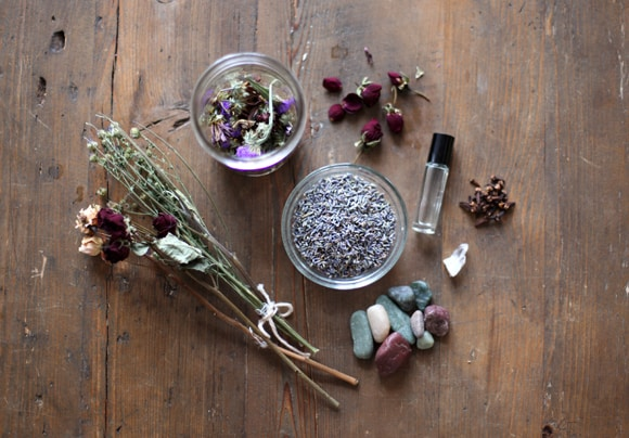 Lavender and dried flower potpourri