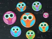 Mason jar lid owls 200x150 15 Brilliant Ways to Recycle Mason Jar Lids