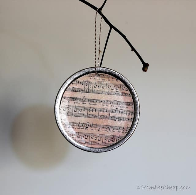 Musical mason jar lid Christmas ornaments