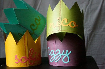 Named birthday crowns