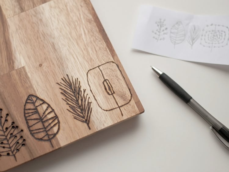Nature themed chopping board