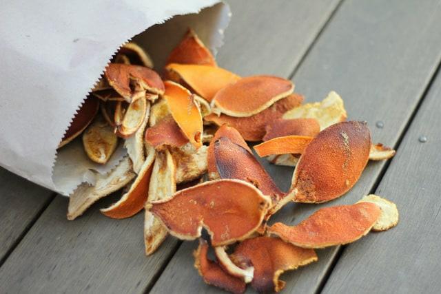 Orange peel fire starters
