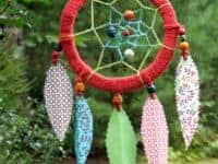 Paper feather dream catcher 200x150 Gorgeous DIY Dreamcatchers