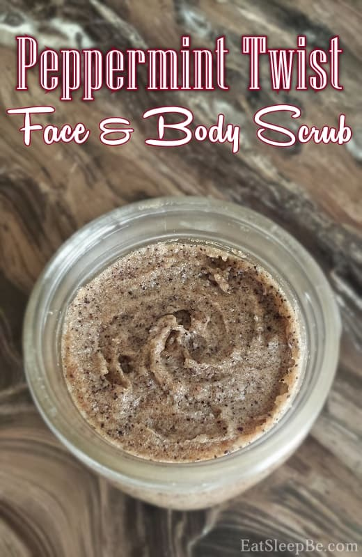 Peppermint twist face and body scrub